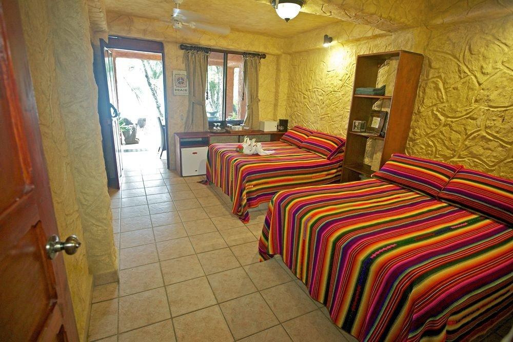 property building red cottage Suite Bedroom