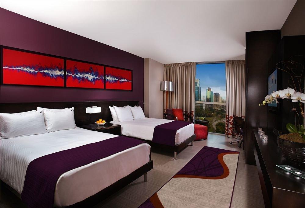 property Bedroom red Suite living room home condominium Villa