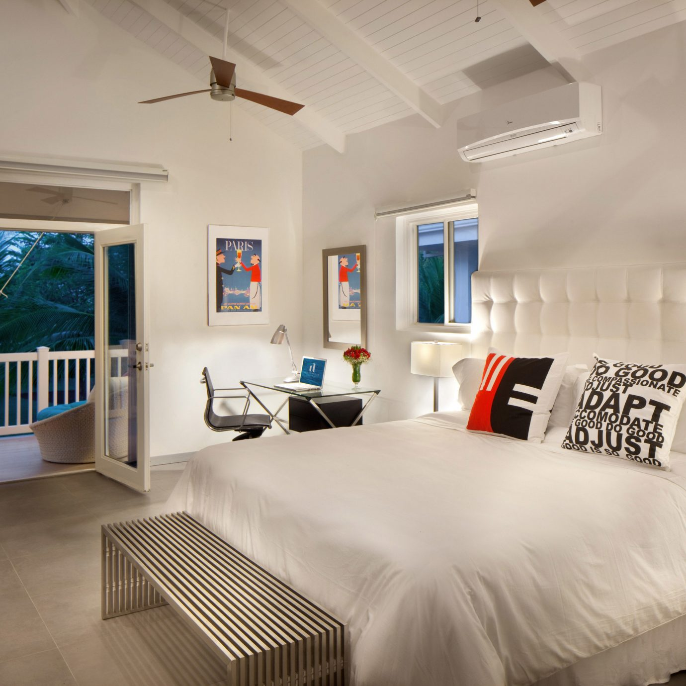 property Bedroom white living room home cottage Villa Suite condominium