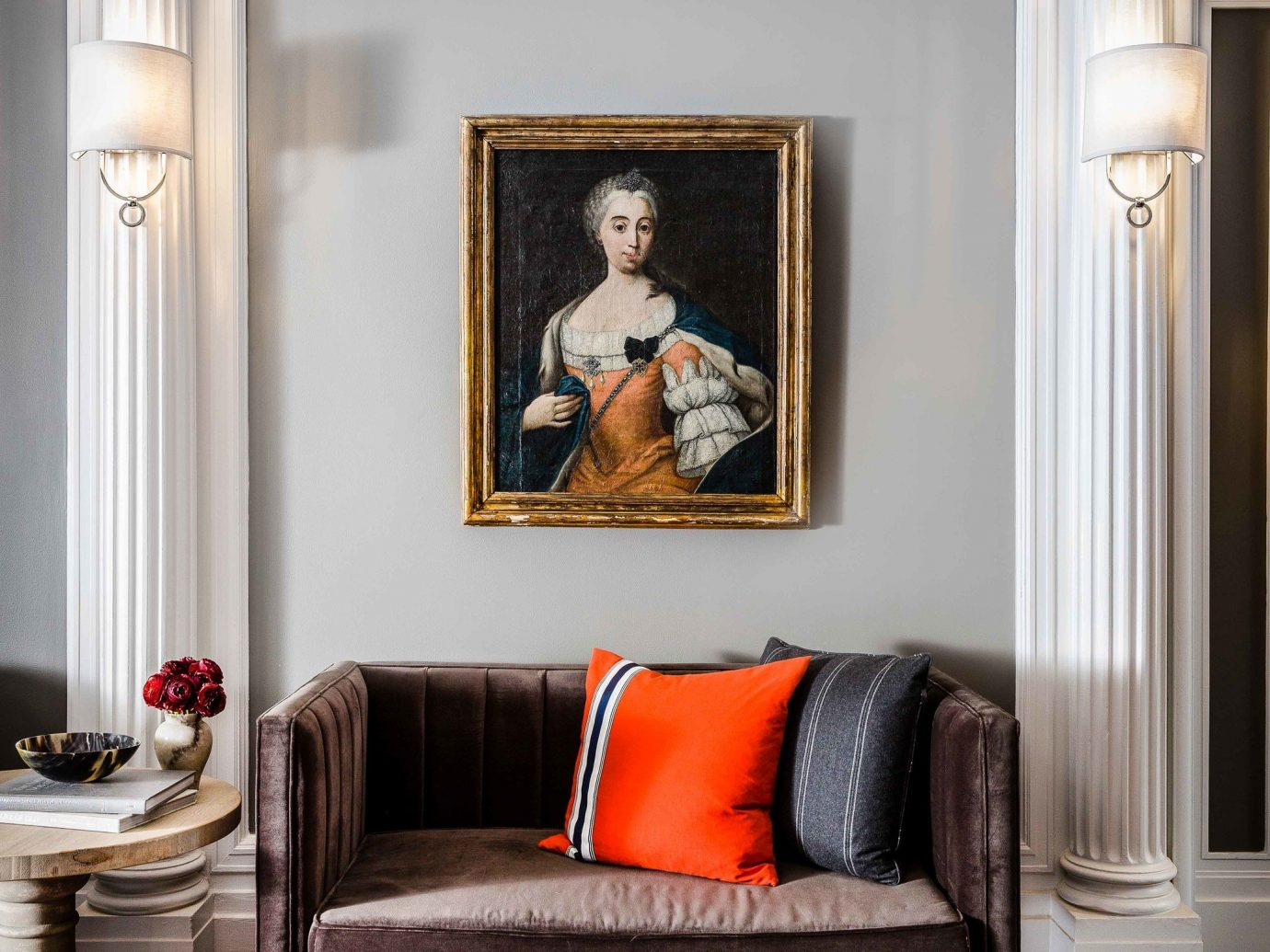 Boutique Hotels Hotels Influencers + Tastemakers Romantic Hotels Style + Design indoor floor room wall Living living room furniture interior design home couch ceiling table chair window decor orange decorated