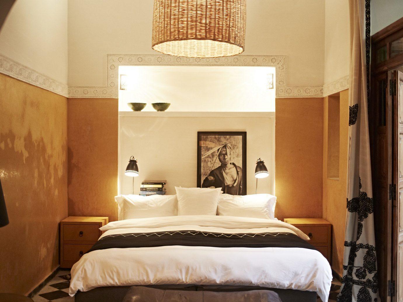 Arts + Culture Influencers + Tastemakers Marrakech Morocco Style + Design Travel Shop Trip Ideas wall bed indoor room property estate hotel Bedroom Suite interior design home floor cottage Villa mansion