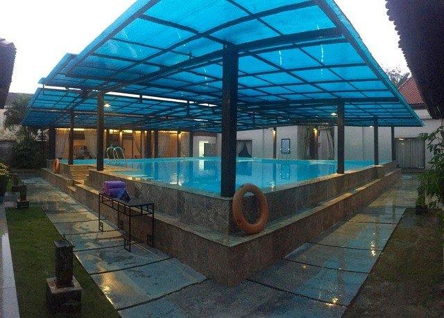 building swimming pool outdoor structure platform greenhouse blue