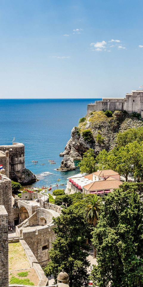 Offbeat Trip Ideas Sea sky outdoor Coast promontory Town City terrain tourism fortification tree building Village water cliff bay stone cement
