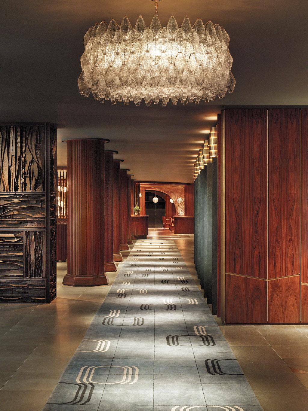 Boutique City Lobby Luxury lighting hall living room flooring aisle mansion ballroom stone