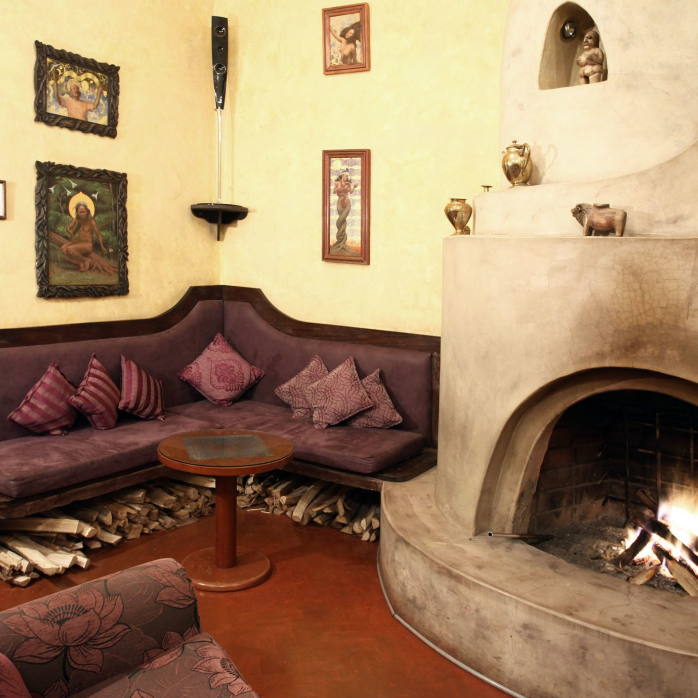 Boutique Fireplace fire house living room home ancient history stone