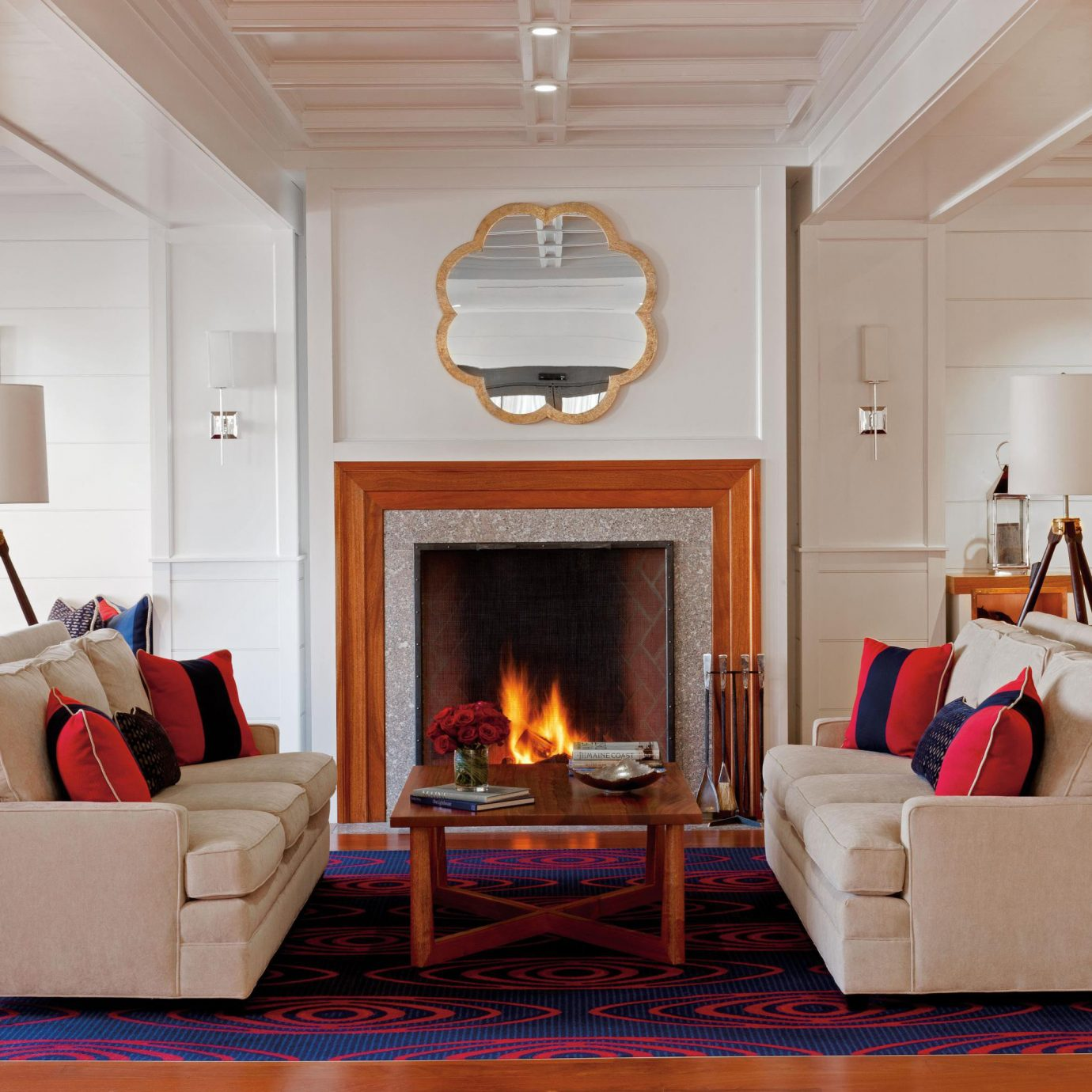 Boutique Fireplace Lounge Romantic Waterfront living room property home fire hardwood cottage
