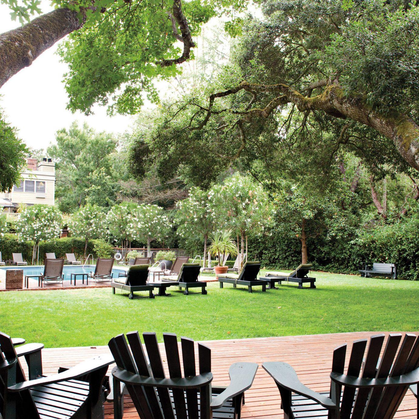 Boutique Grounds Inn Romance tree grass chair park Picnic wooden Garden backyard flower lawn plant day shade