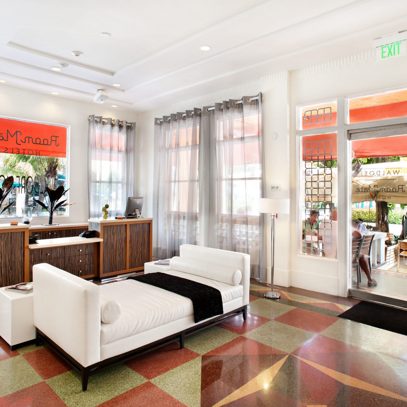 Lobby retail Boutique shopping mall waiting room condominium