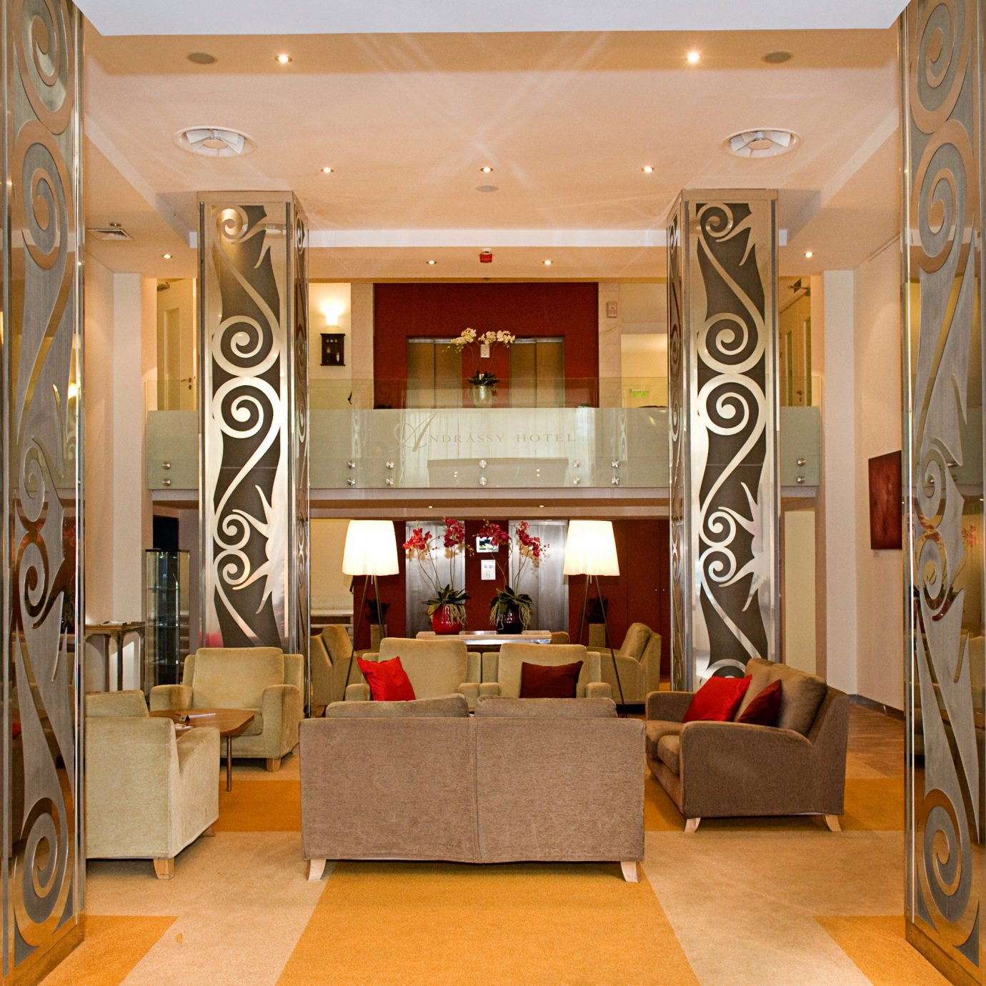Lobby Lounge Modern property Boutique living room home retail hall condominium plant