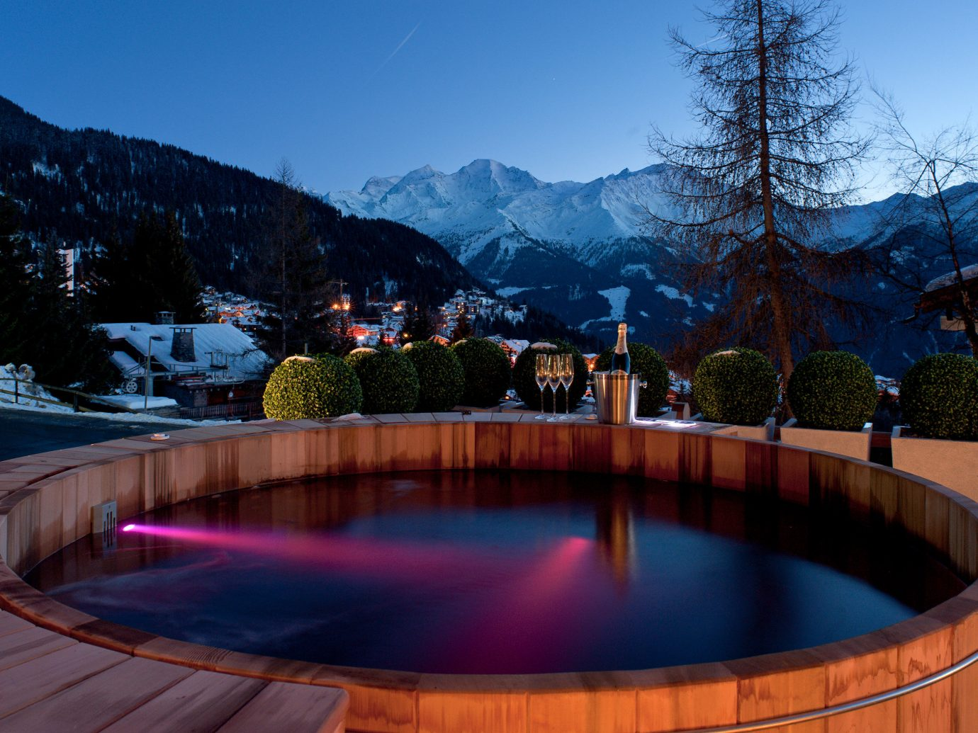 Hotels Luxury Travel Mountains + Skiing sky tree outdoor mountain swimming pool leisure Resort estate backyard