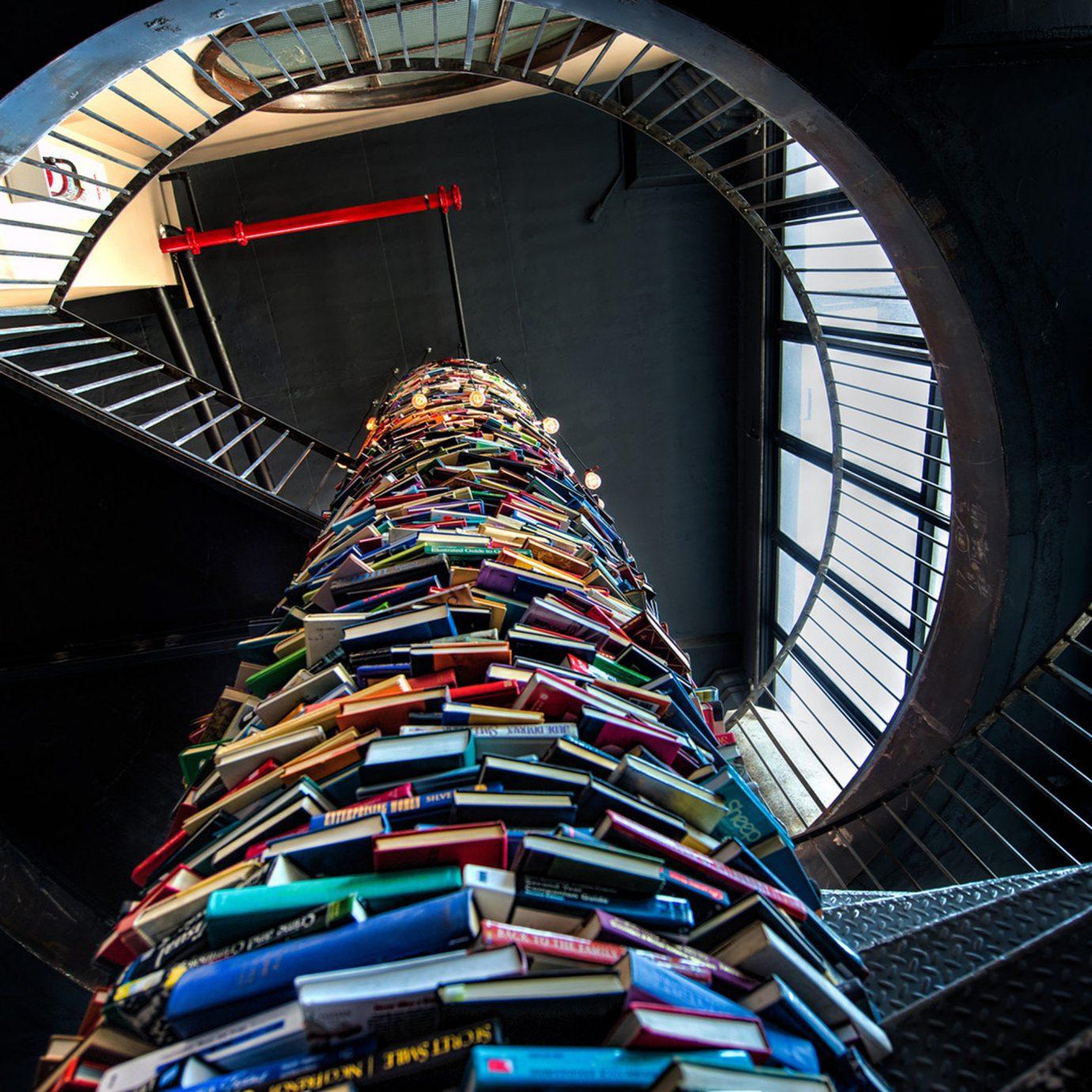 Buildings City Cultural Entertainment Hip Lobby Modern color blue light wheel skyscraper fisheye lens ferris wheel