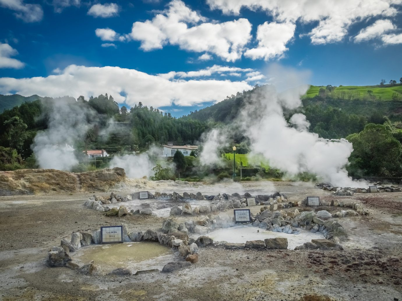Portugal Trip Ideas body of water hot spring geyser water water resources cloud sky fluvial landforms of streams national park landscape geology mountain tree spring