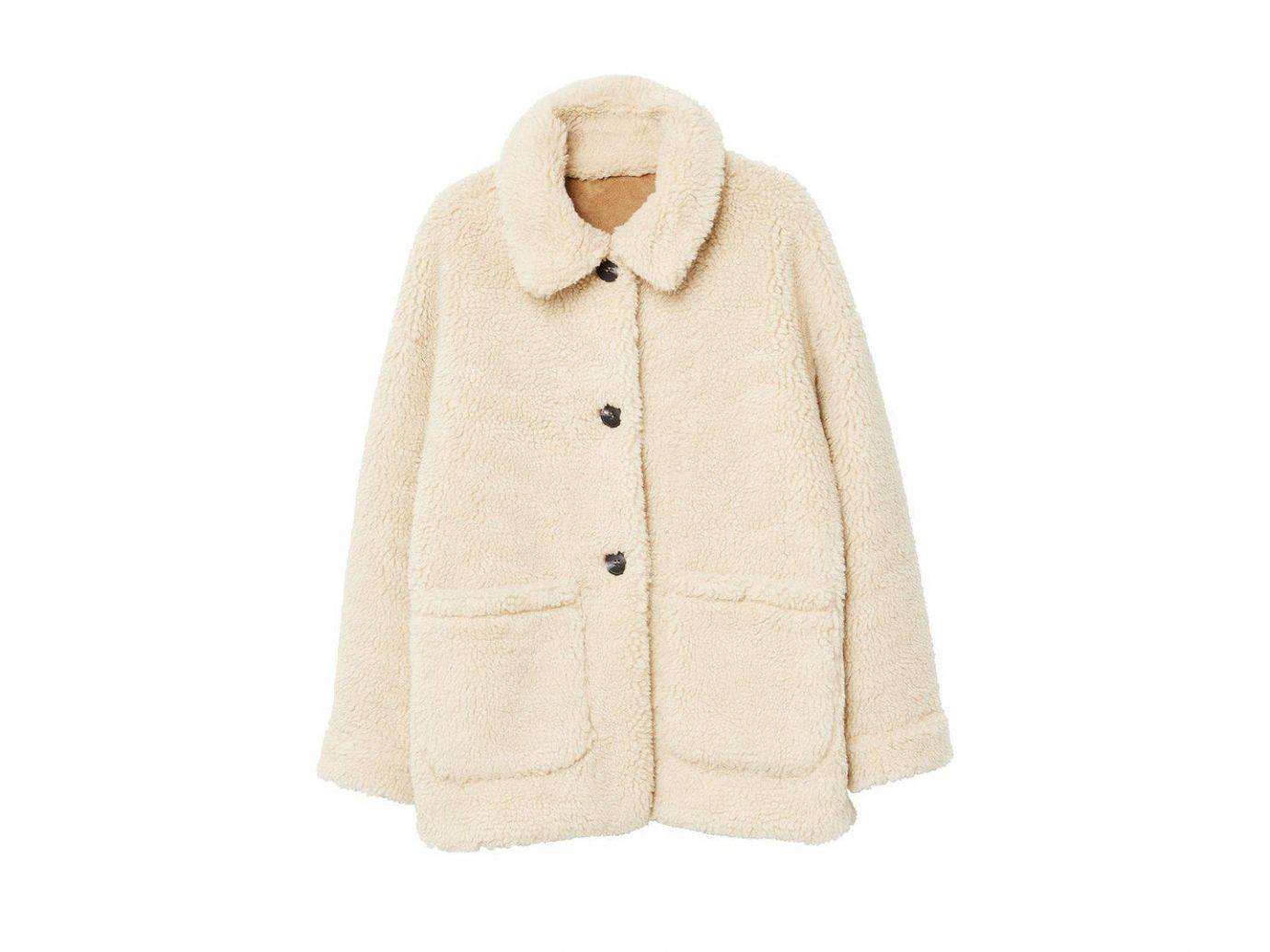 Style + Design Travel Shop coat fur clothing woolen wearing fur beige jacket sleeve overcoat tan