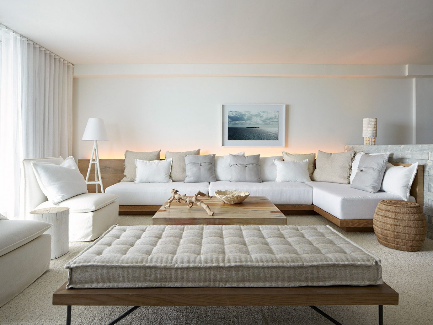 Living room at 1 Hotel South Beach