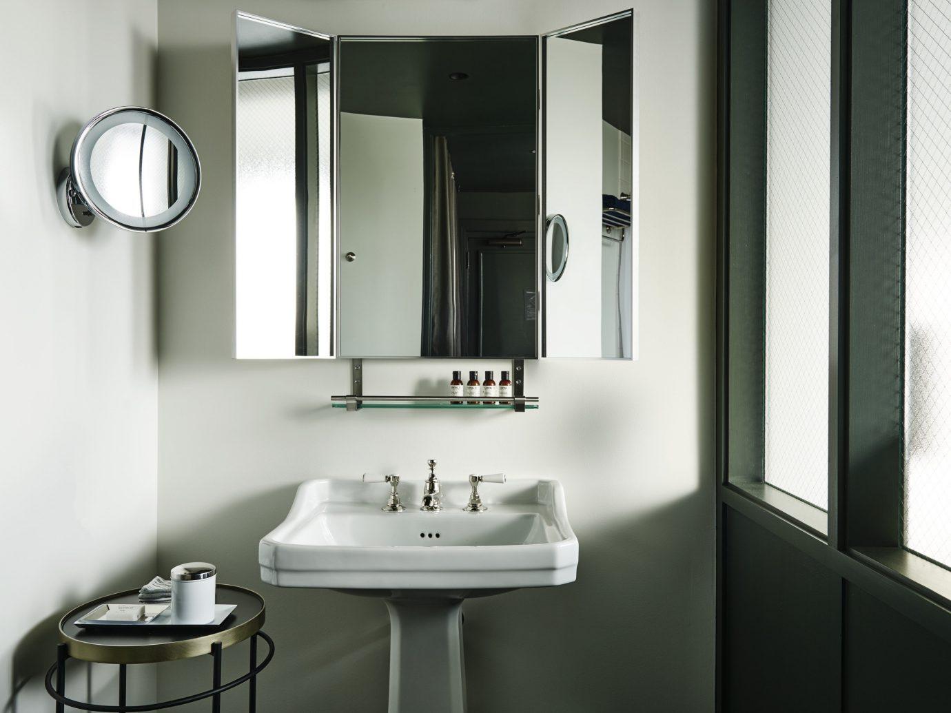 Trip Ideas Weekend Getaways Winter wall bathroom indoor mirror sink room window interior design lighting plumbing fixture floor Design bathroom cabinet bidet apartment public Modern