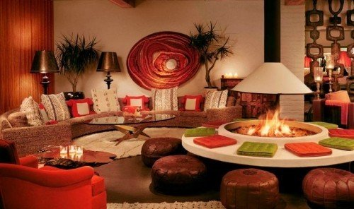 Hotels indoor wall Living room meal living room restaurant set furniture area cluttered
