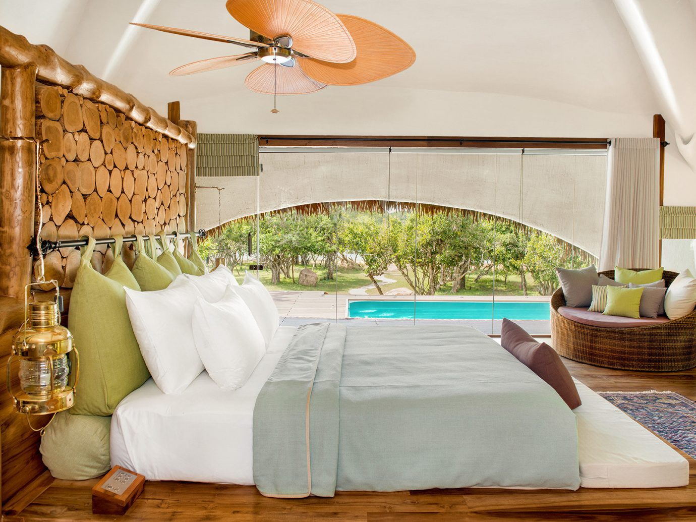 All-Inclusive Resorts Hotels Luxury Travel indoor room Living interior design Bedroom bed frame bed furniture home Suite estate ceiling wood real estate bed sheet house decorated