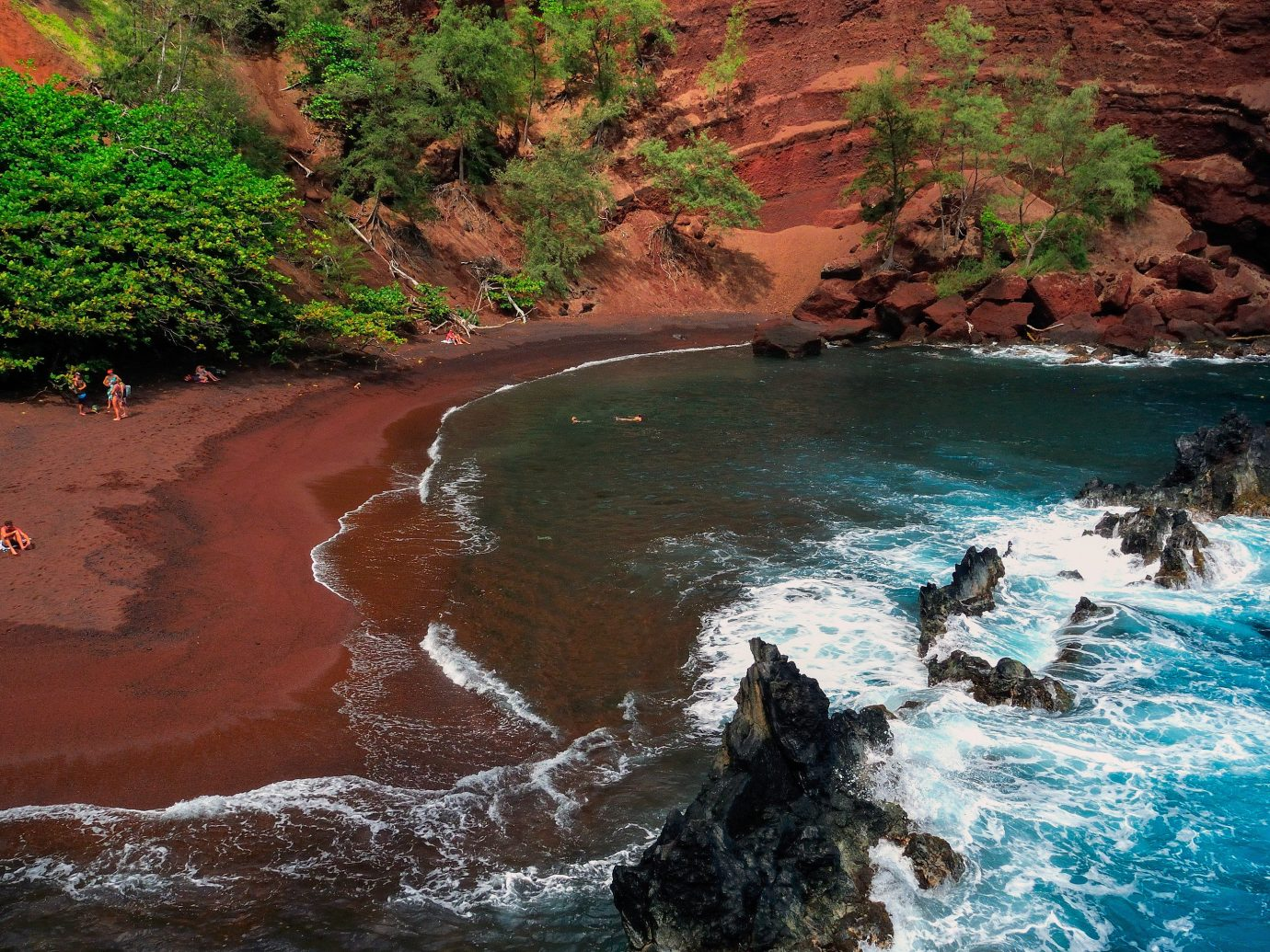 Beach water outdoor Nature valley landform body of water River Waterfall rock rapid water feature stream canyon Sea Coast surrounded