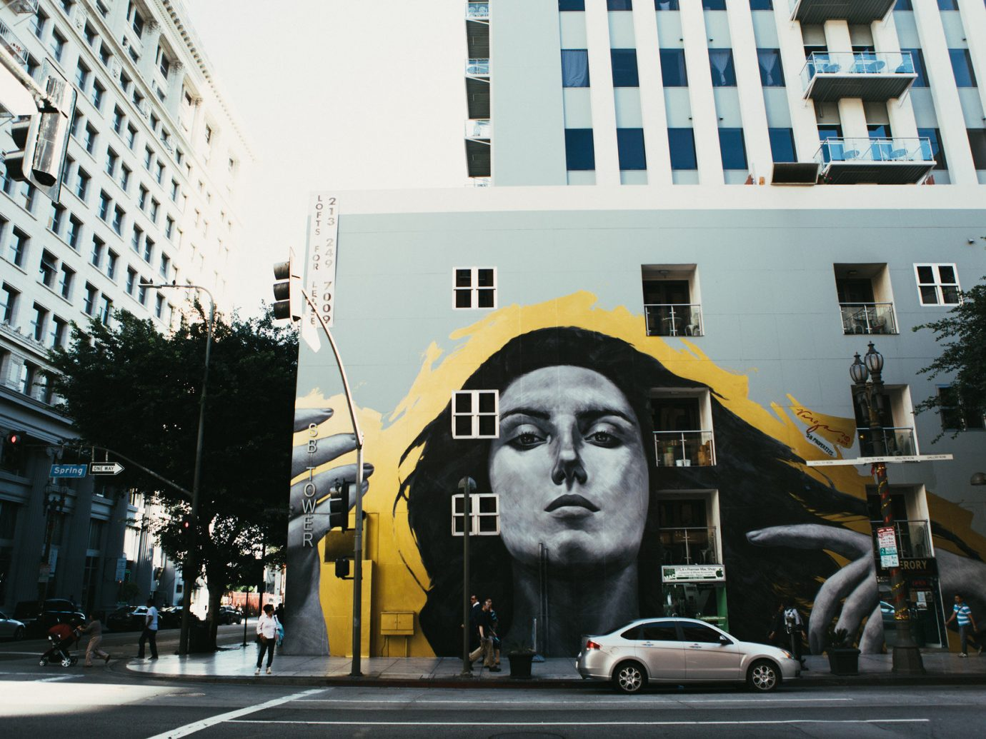 art Buildings City city streets coffee shop Exterior Food + Drink Offbeat street art streets Travel Trends building road outdoor street urban area metropolis Downtown infrastructure mural facade pedestrian advertising cityscape apartment building