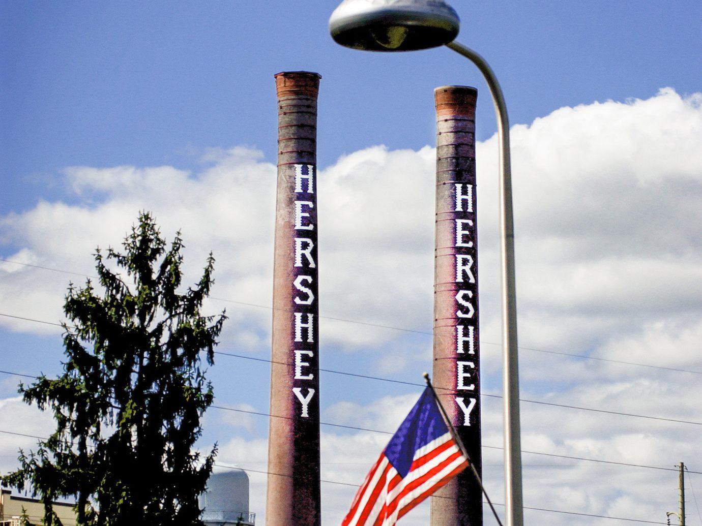 Trip Ideas Weekend Getaways sky outdoor blue landmark tower lighting sign advertising