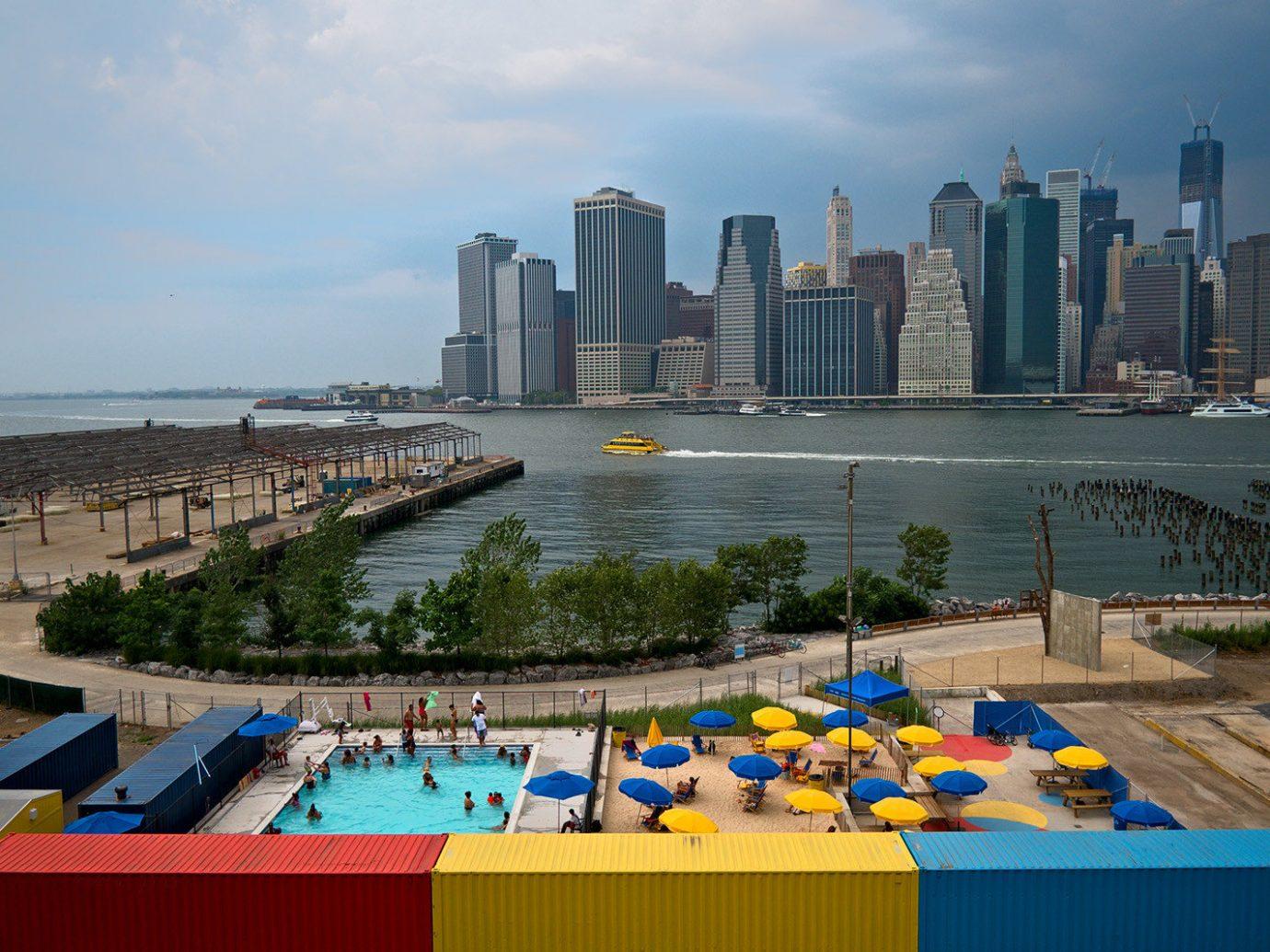 Offbeat sky outdoor City human settlement skyline vacation tourism Beach Downtown Sea