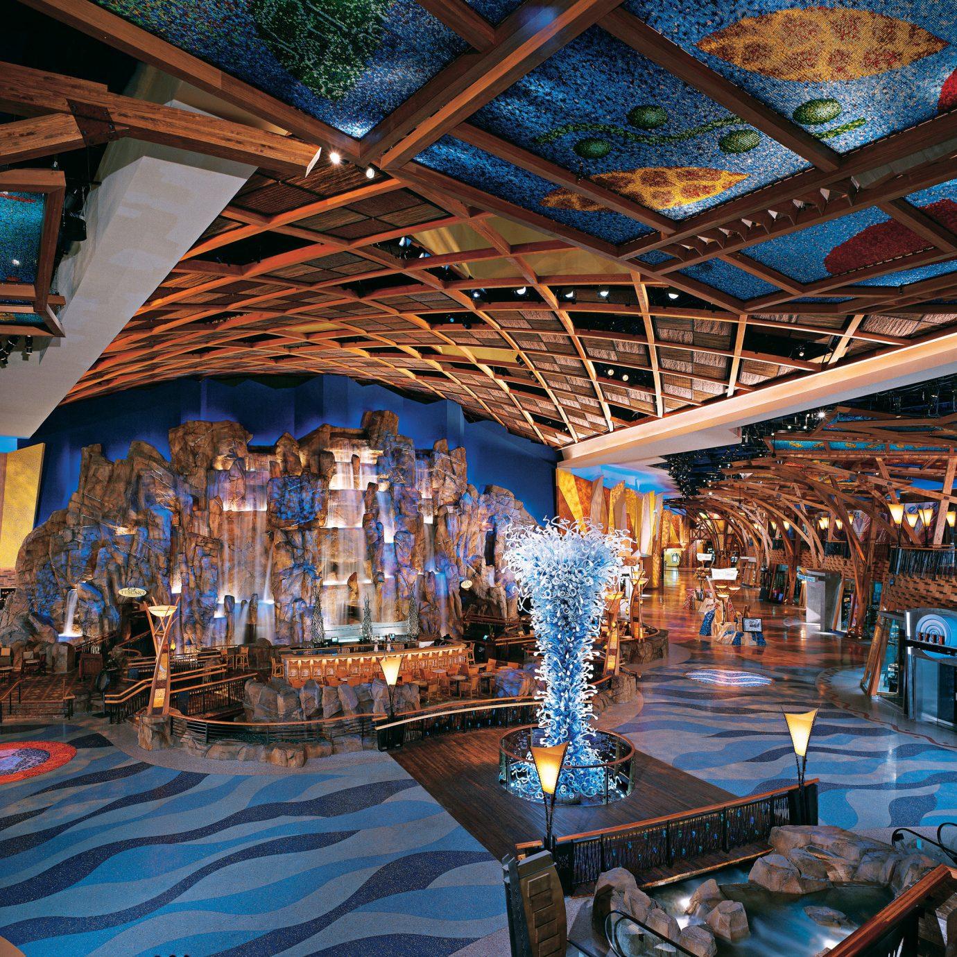 Casino Lobby Resort amusement park blue
