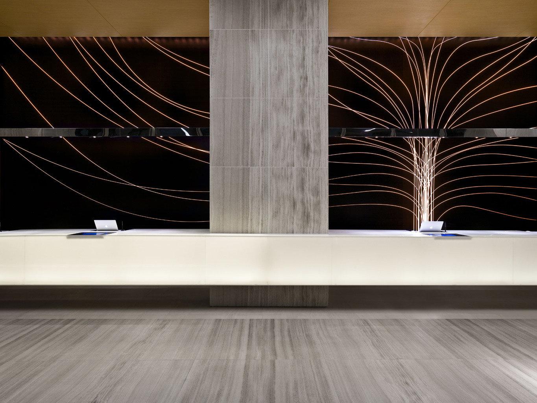 City Family Lobby Modern structure light lighting modern art flooring glass