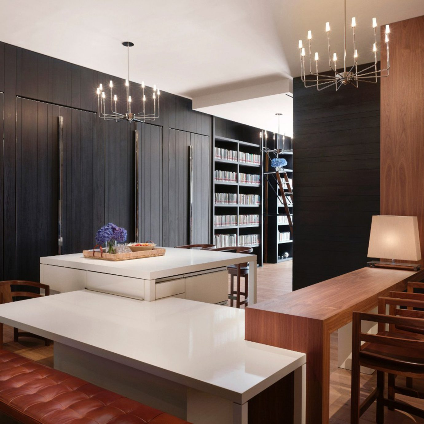 City Luxury property wooden home cabinetry lighting Suite living room Modern Island dining table