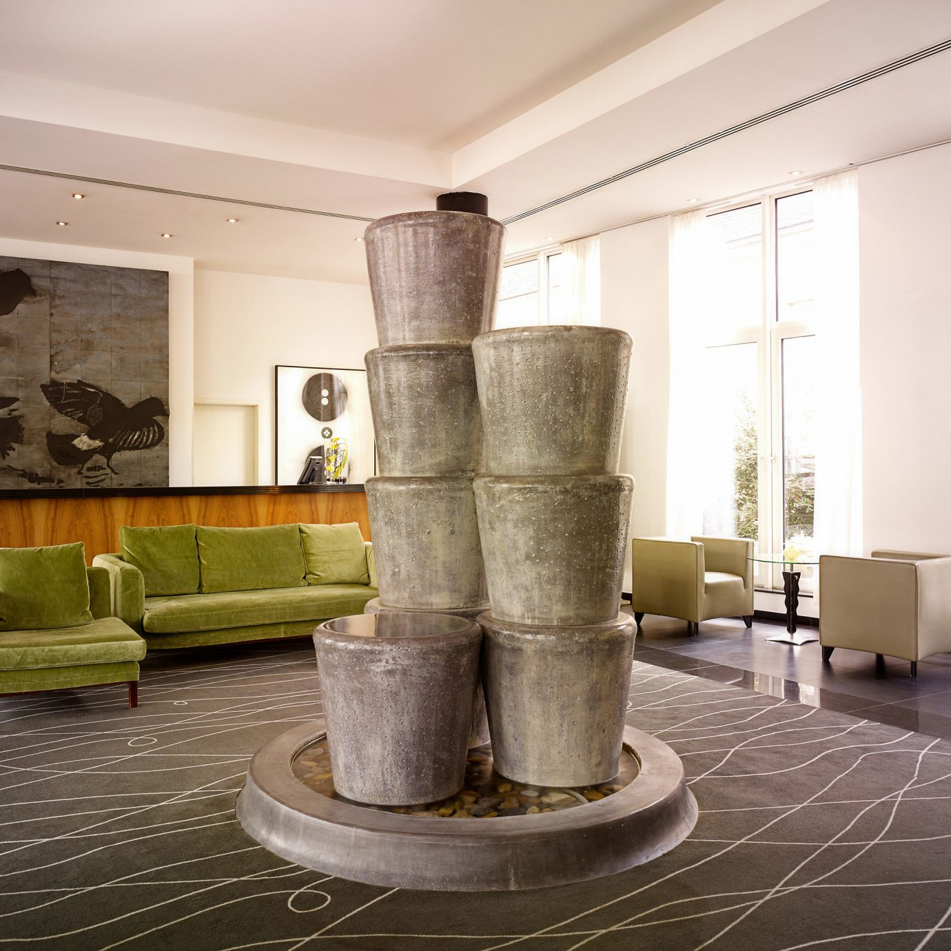 City Lobby Lounge Modern structure property column living room lighting flooring home tourist attraction