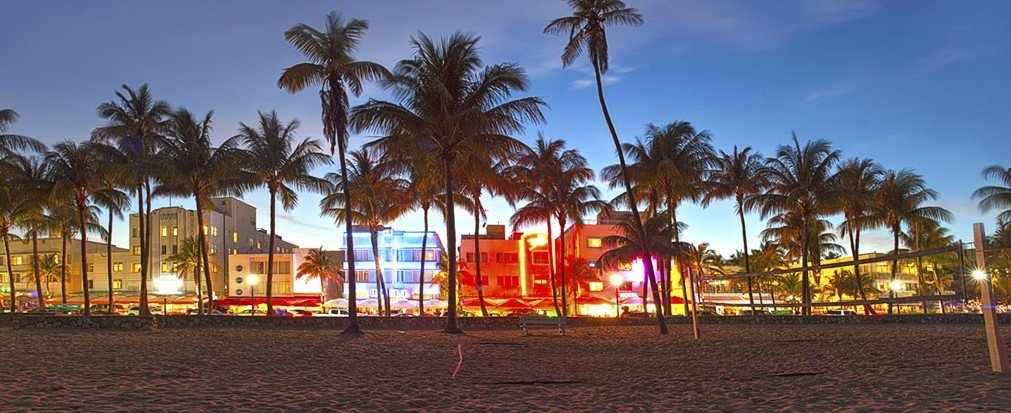 Hotels outdoor sky tree palm plant Town City evening arecales Resort plaza dusk Beach cityscape lined shore