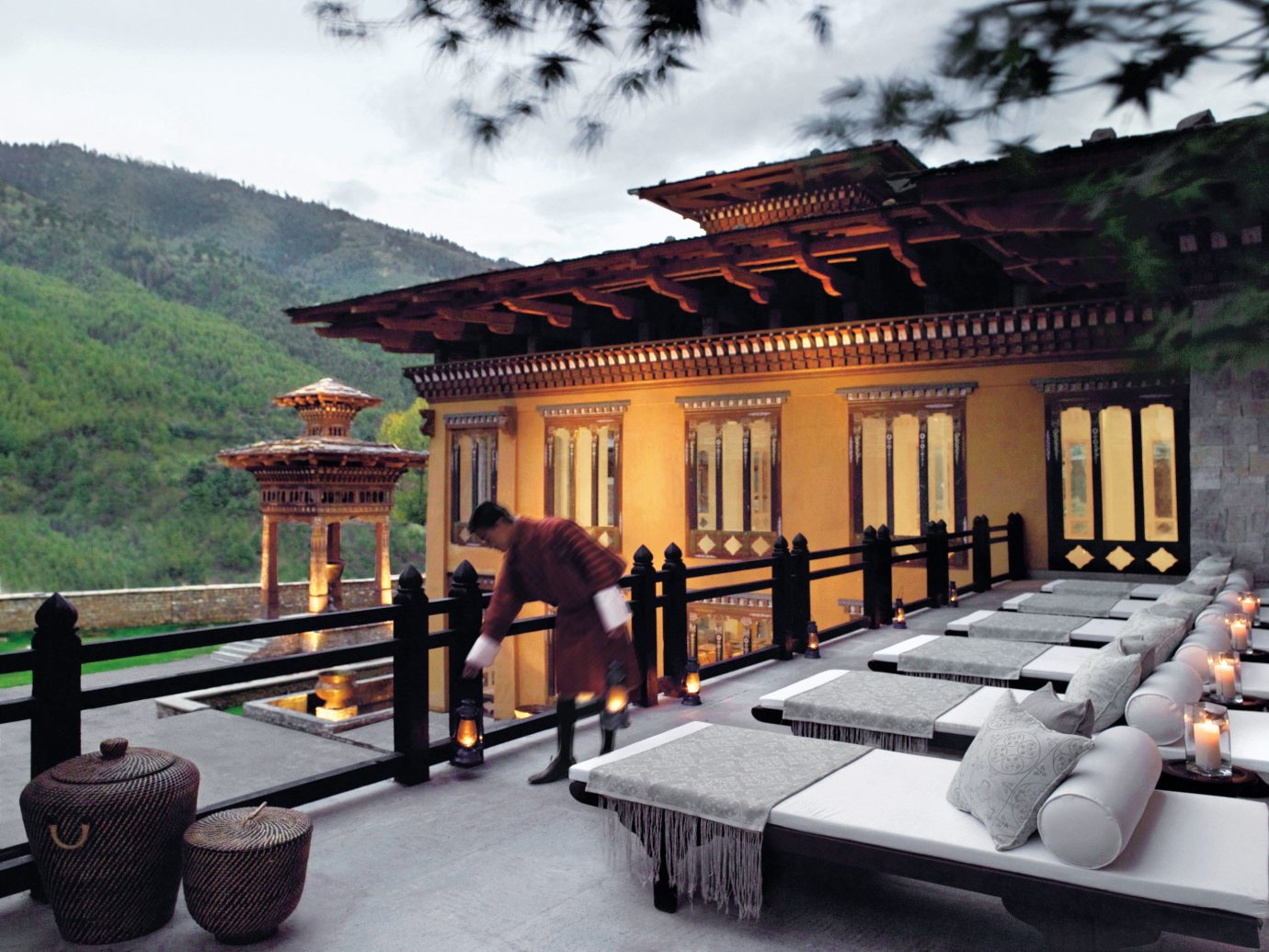 Architecture Cultural Deck Mountains Scenic views Trip Ideas outdoor mountain building house estate home restaurant Resort mansion
