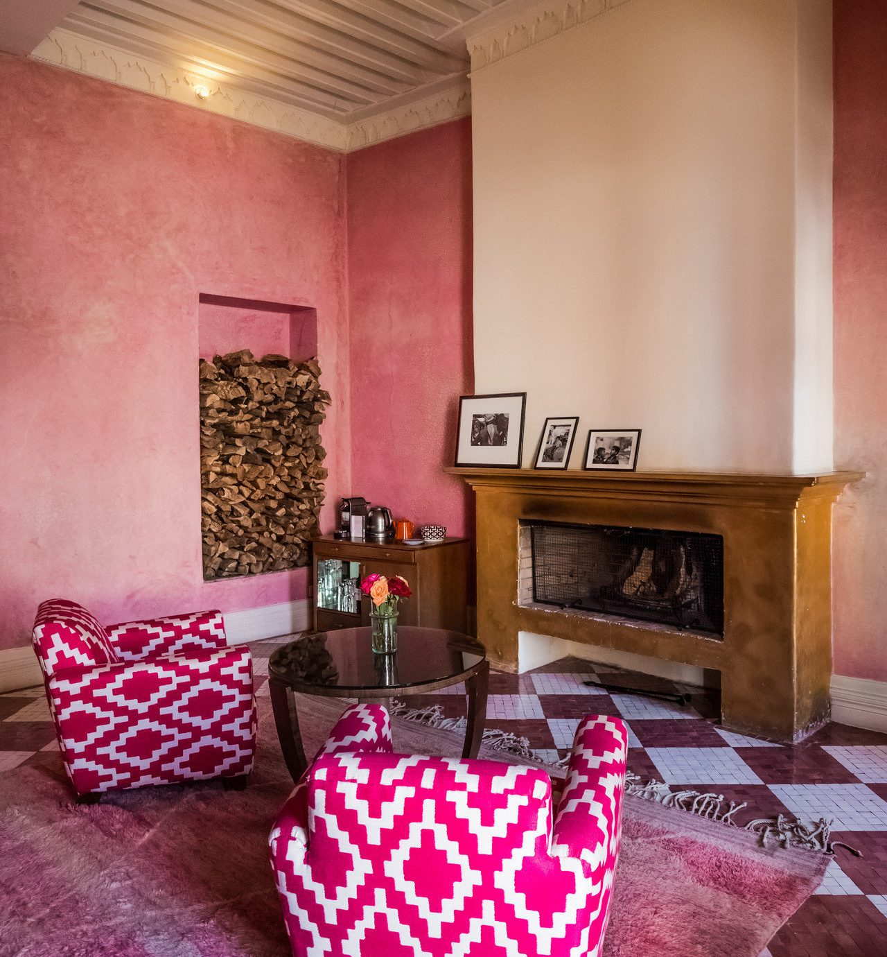 property living room house home red cottage colored