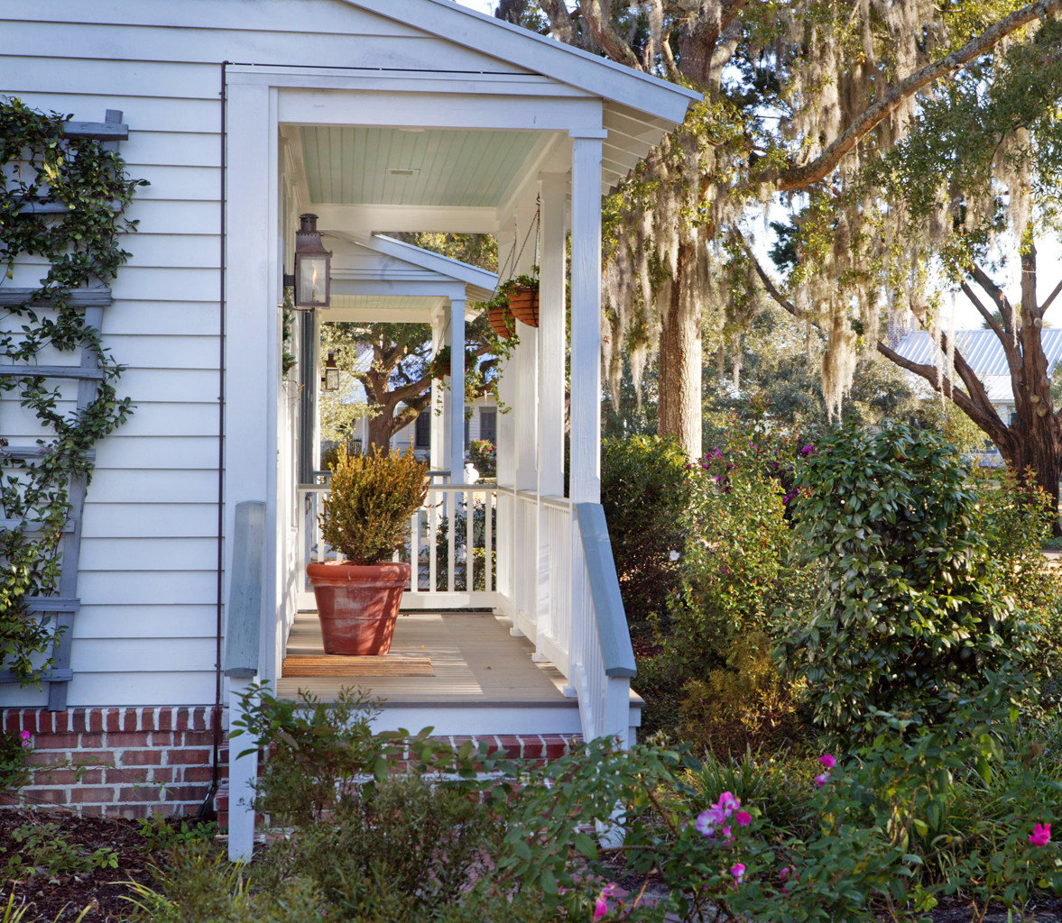 Country Exterior Garden Grounds Inn Outdoors Patio Waterfront tree building house porch home backyard yard outdoor structure cottage orangery flower Courtyard