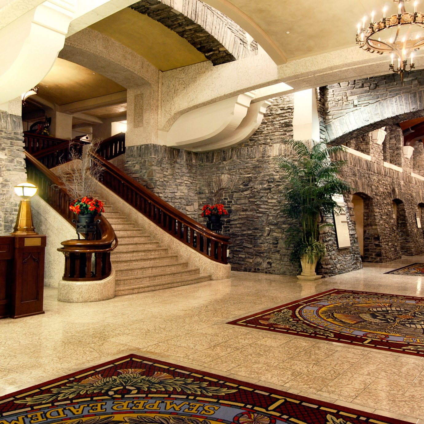 Lobby Lounge Resort mansion palace flooring ancient history Courtyard