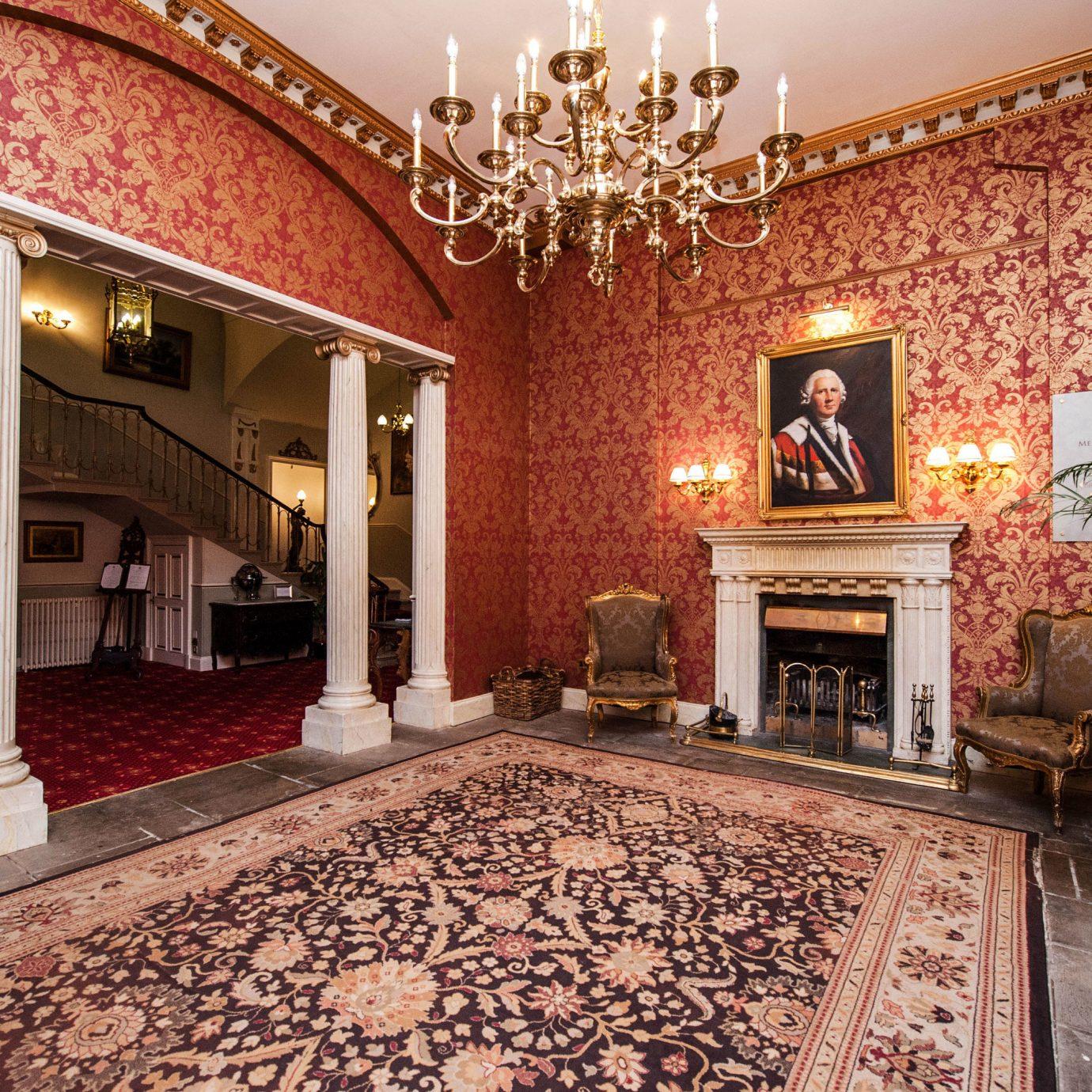Lobby property building mansion palace home living room flooring hacienda rug Villa Courtyard