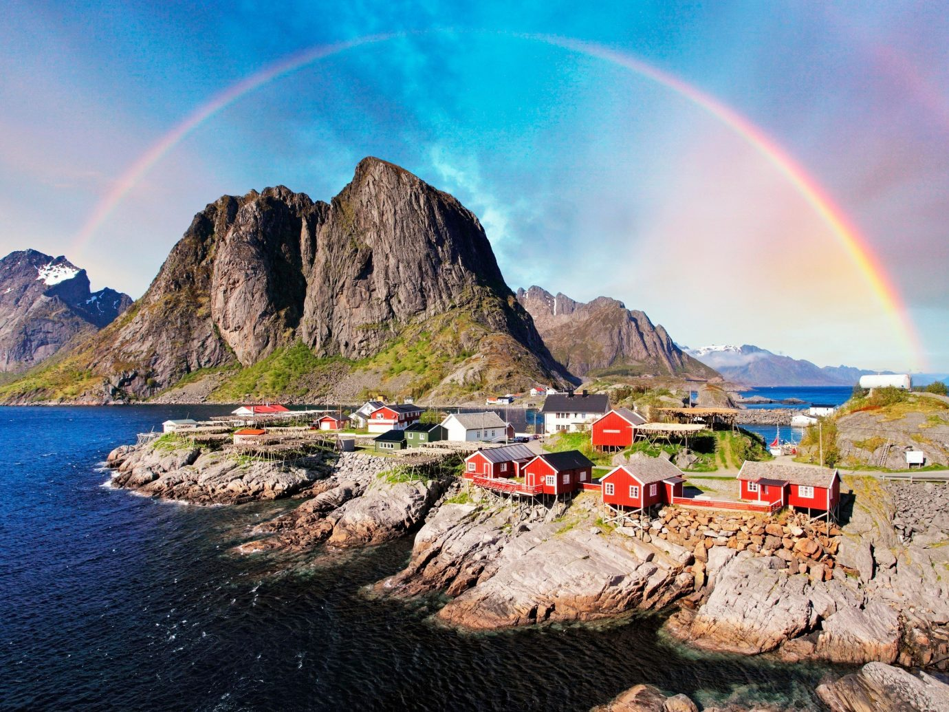 Secret Getaways Trip Ideas mountain water sky outdoor Nature rainbow Coast Sea landscape meteorological phenomenon mountain range fjord terrain