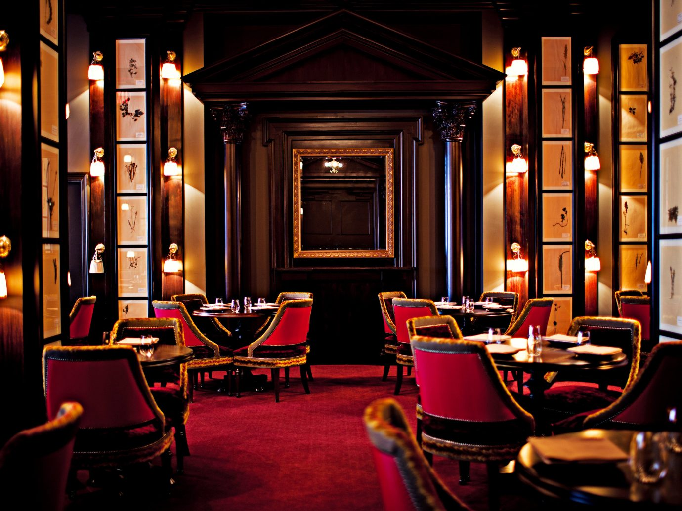 The NoMad Hotel Bar City Dining Drink Eat Hip Hotels Luxury Nightlife NYC indoor floor room restaurant ceiling lighting interior design lit living room night furniture