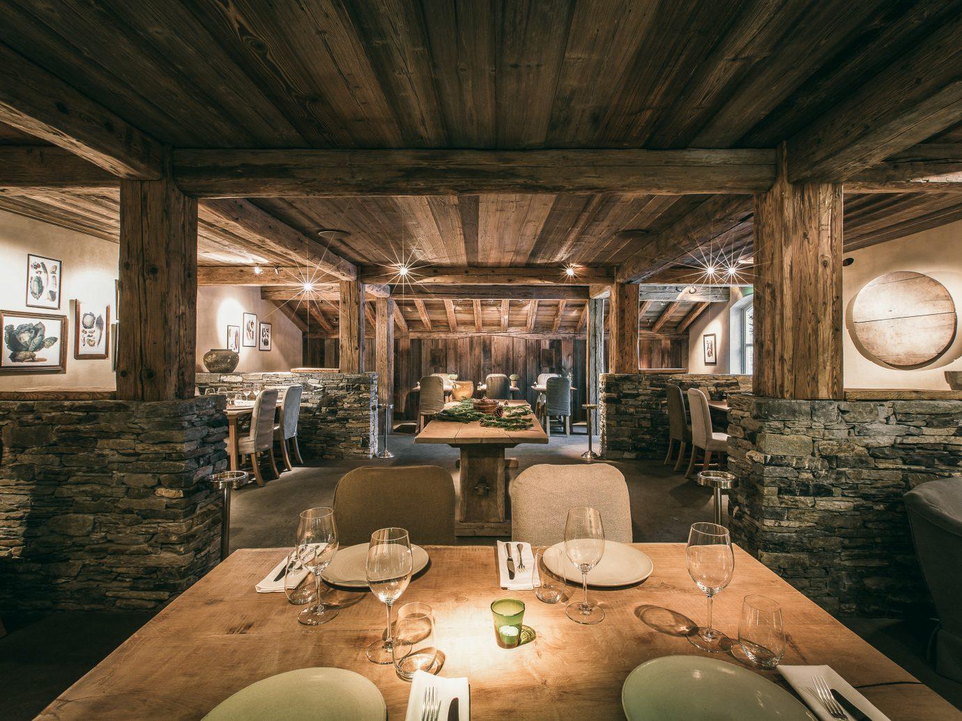 Secret Getaways Trip Ideas Winter indoor ceiling room restaurant interior design table area furniture