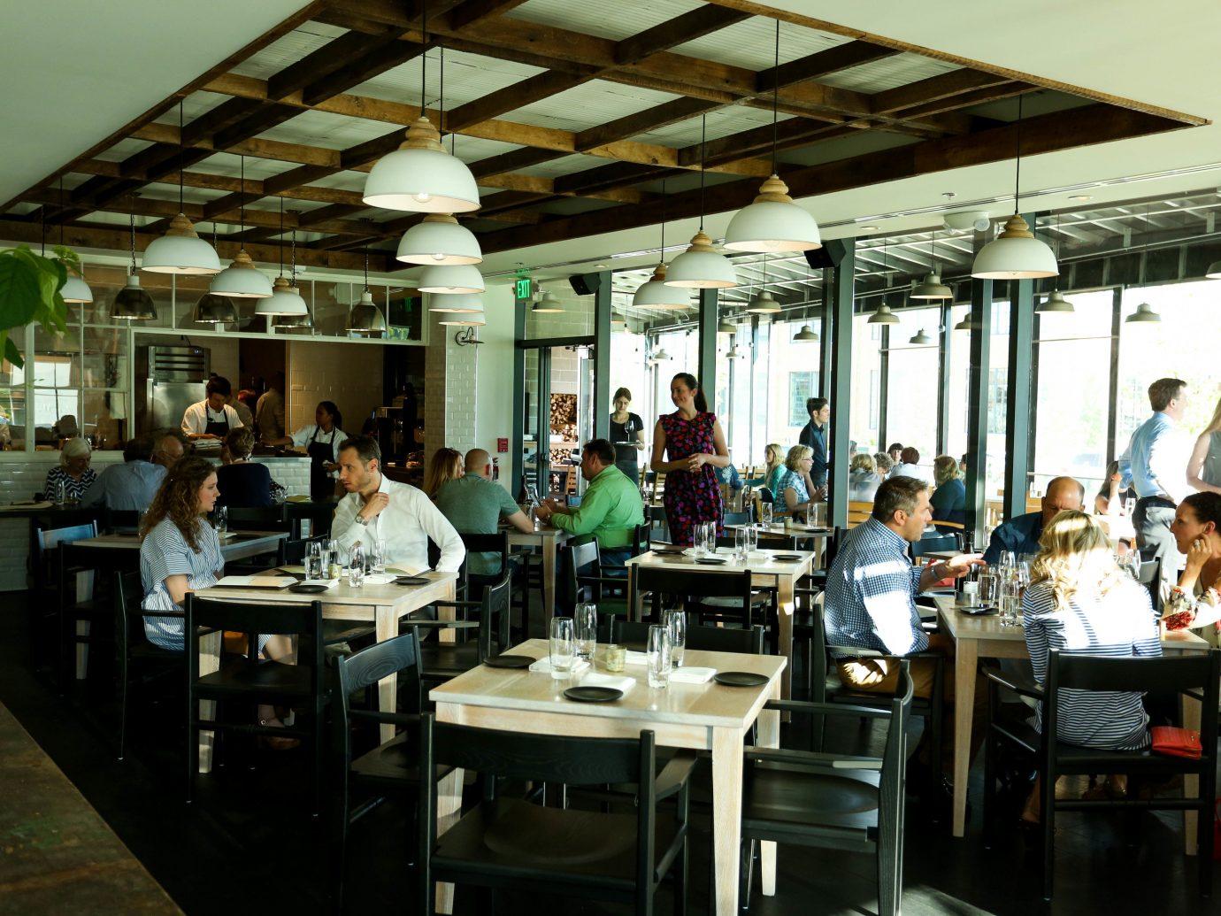 Trip Ideas Weekend Getaways ceiling indoor table floor person restaurant people cafeteria several dining room