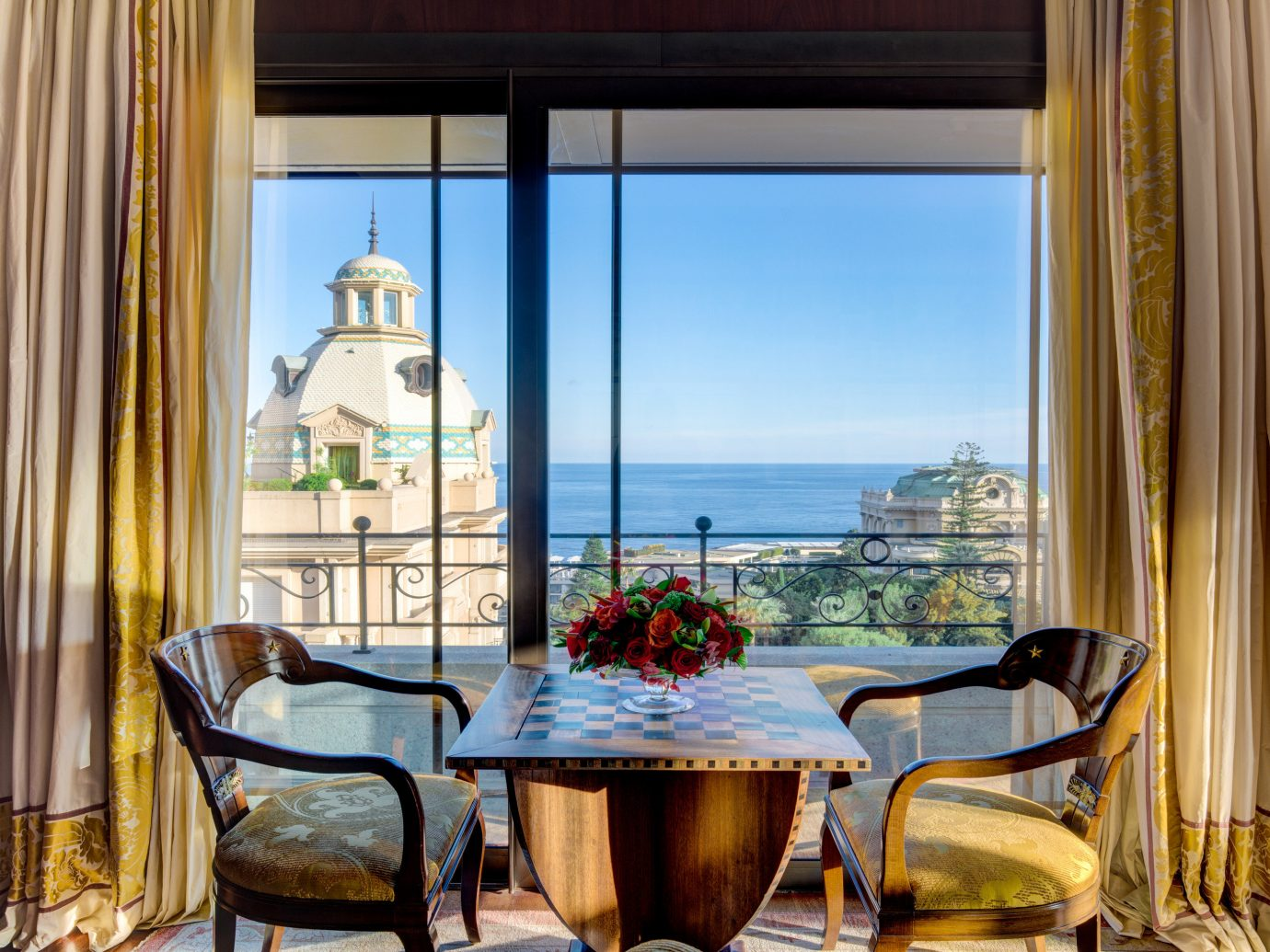 Hotels Romance room interior design dining room window Suite window treatment home hotel apartment estate living room Balcony curtain