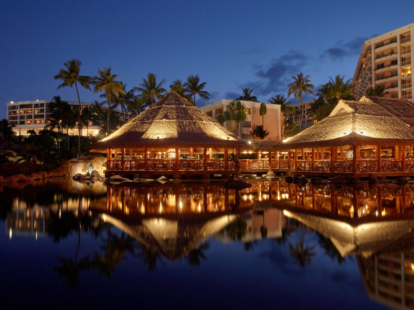 Beach Boutique Hotels Hotels Luxury Travel Trip Ideas outdoor building sky reflection water landmark Resort tourist attraction night evening lighting tourism City temple cityscape hotel computer wallpaper dusk leisure place of worship several