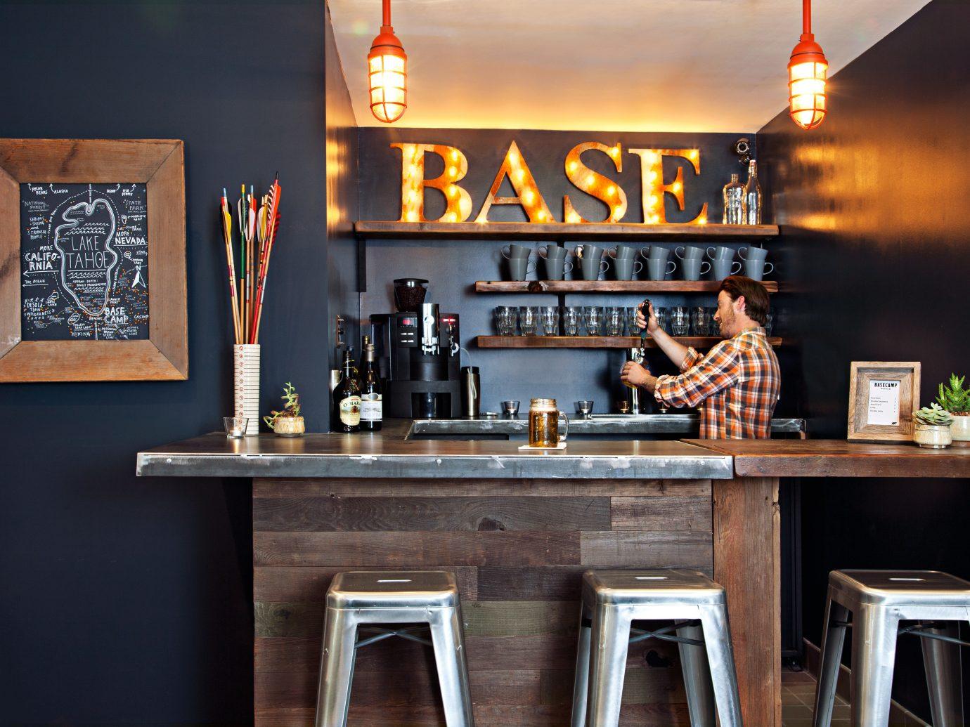 Bar Beach Design Drink Eco Glamping Rustic indoor restaurant shelf