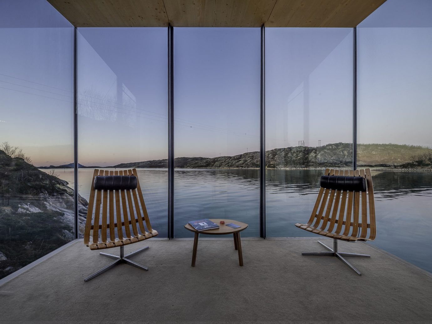 Norway Oslo Trip Ideas Architecture sky chair water reflection furniture table window daylighting house