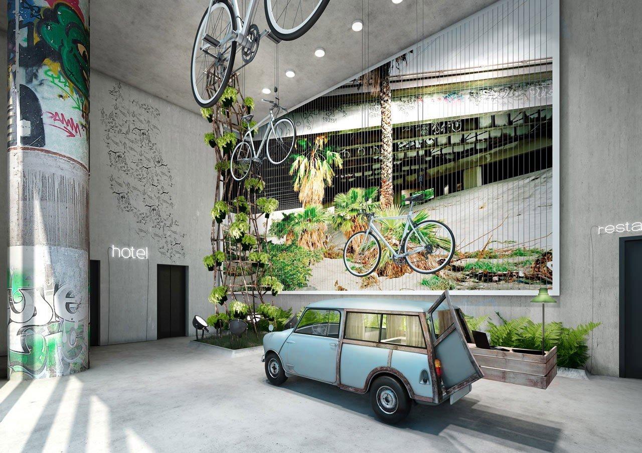 Hotels Trip Ideas building outdoor home interior design mural Design way sidewalk