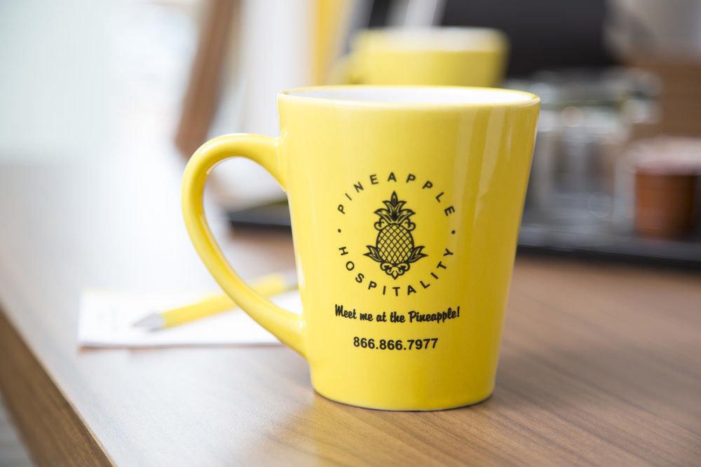 cup coffee sitting yellow laptop breakfast Drink coffee cup keyboard drinkware mug flavor tea beverage