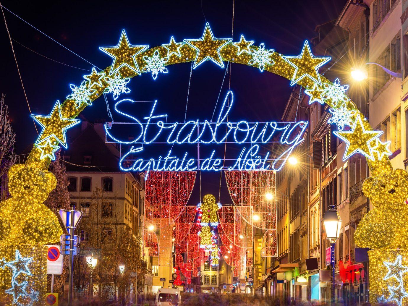 Cruise Travel Luxury Travel Trip Ideas building outdoor street City christmas lights christmas decoration night Christmas light holiday crowd