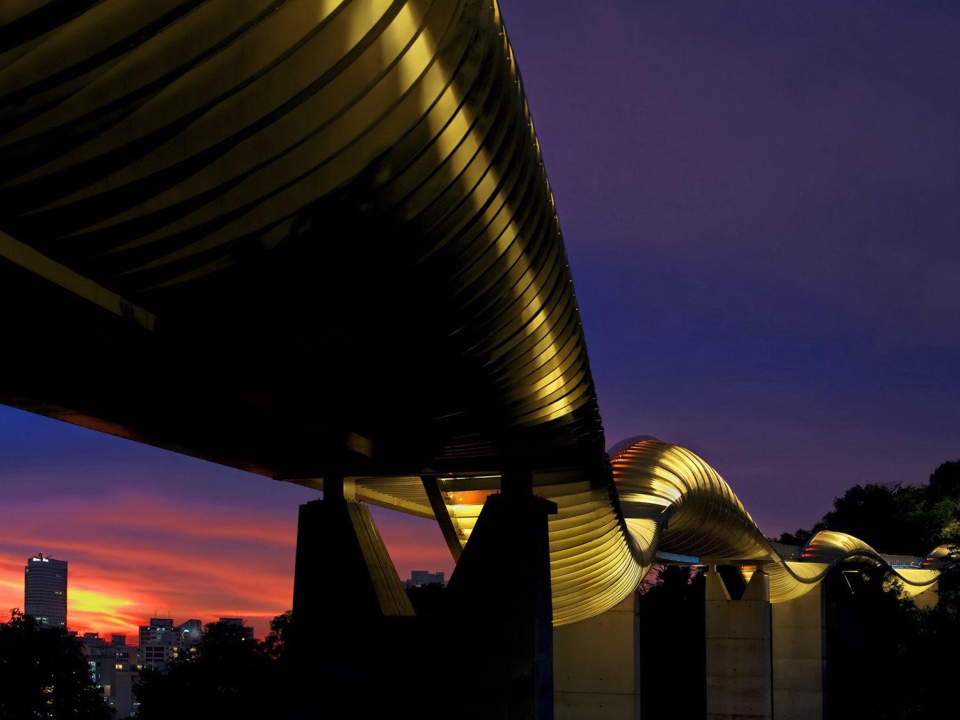 Offbeat Singapore Trip Ideas sky color outdoor night landmark City light evening Sunset urban area dusk atmosphere of earth cloud sunlight darkness morning reflection lighting skyscraper cityscape dawn