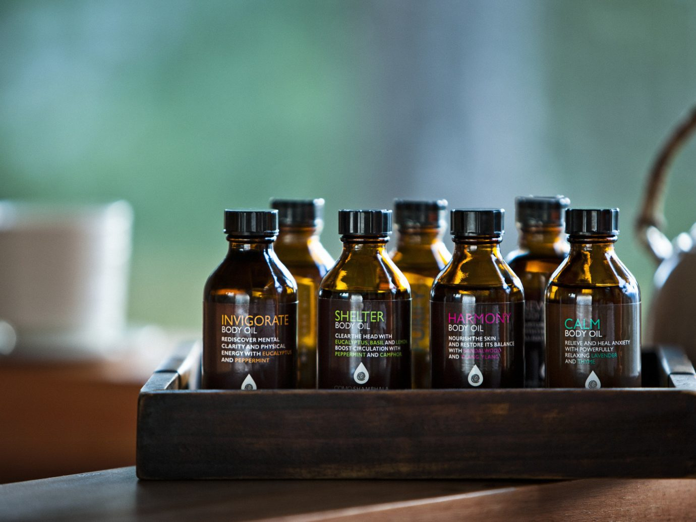 apothecary bottles decor detail Health + Wellness Hotels relaxation Spa Spa Retreats toiletries Travel Tips indoor bottle wall table counter distilled beverage liqueur alcoholic beverage alcohol Drink wine bottle whisky sense drinkware beer beverage