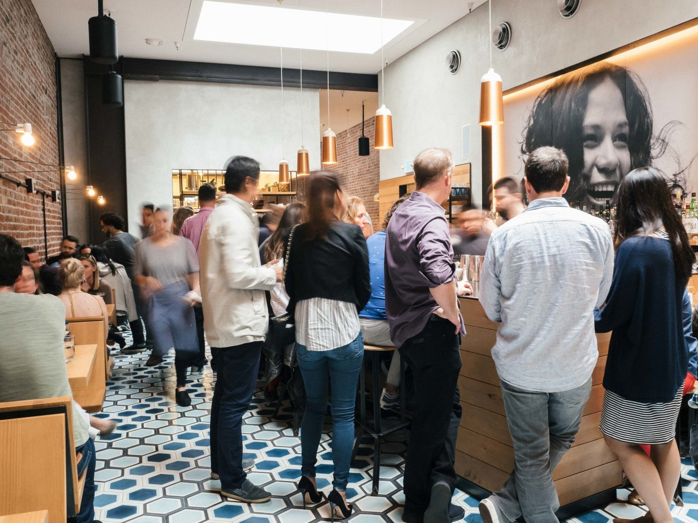 Food + Drink Travel Tips person indoor people group scene event Design crowd room line