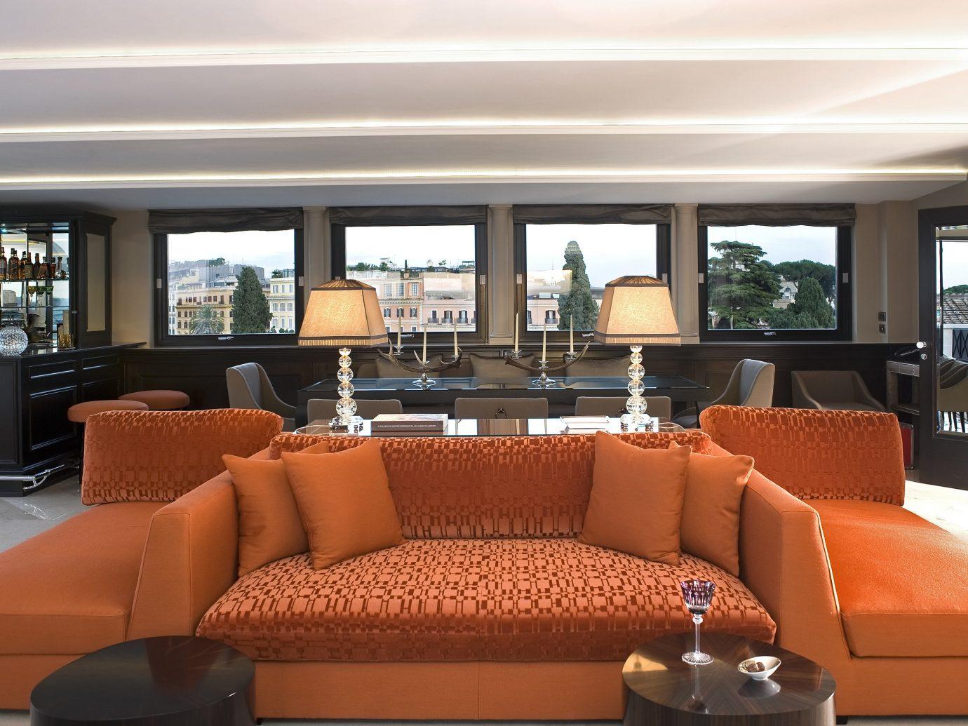 Hotels window sofa indoor Living room passenger ship property Boat living room yacht vehicle estate interior design home Suite luxury yacht condominium real estate ship furniture Resort